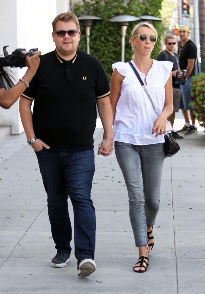 James Corden and his wife Julia Carey
