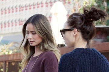 Jamie Chung Cara Santana and Jamie Chung Get Lunch in West Hollywood
