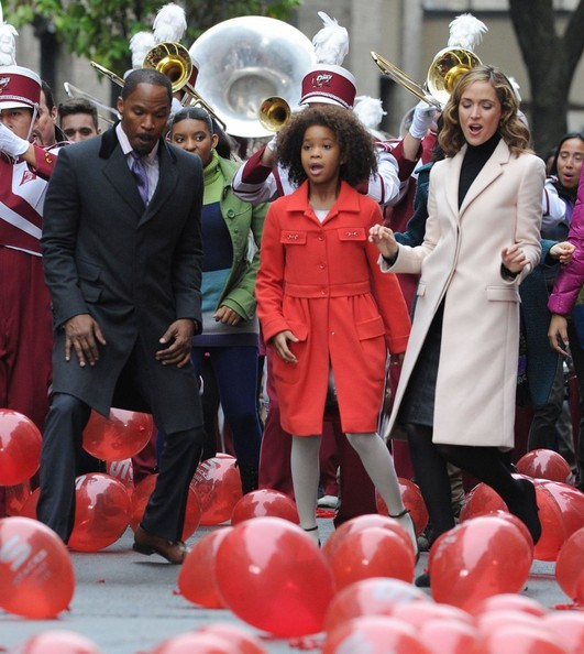 Scenes from the 'Annie' Set