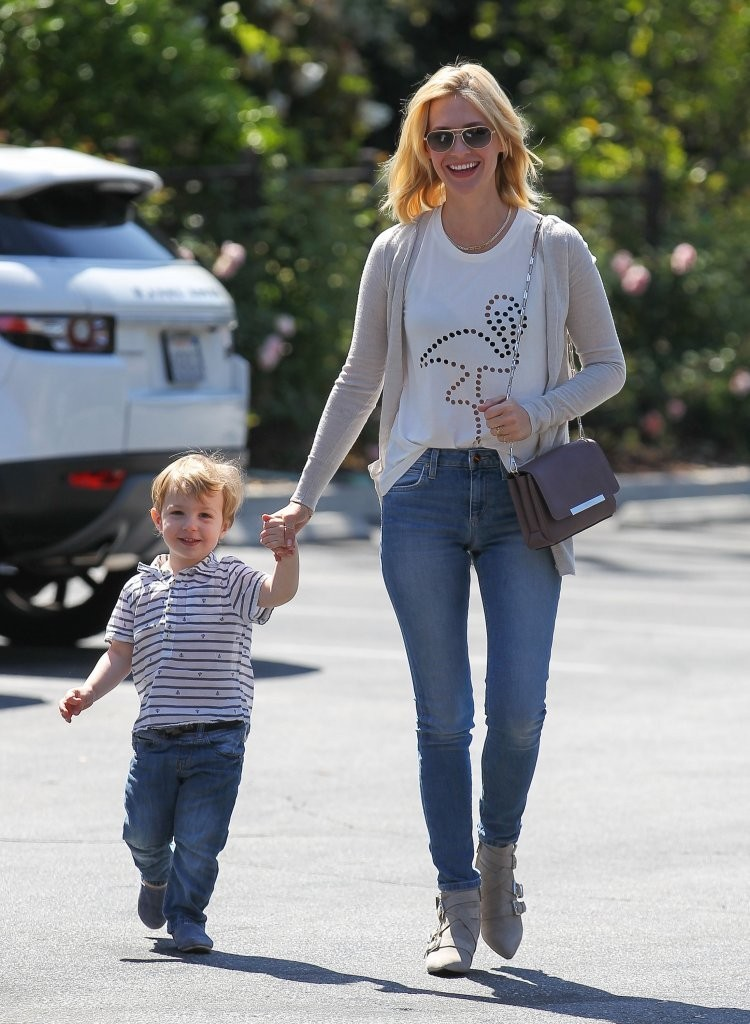 January Jones Out and About with Xander