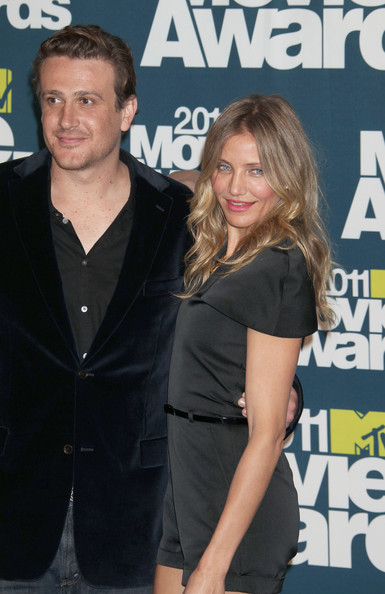 Jason Segel Celebrities stop by the 2011 MTV Movie Awards press room at the Gibson Amphitheare in Universal City.