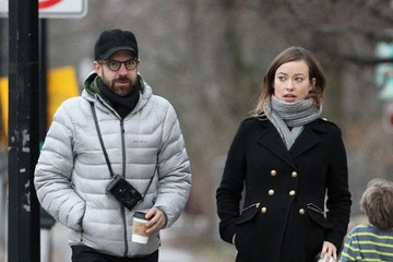 Jason Sudeikis Olivia Wilde and Jason Sudeikis Stroll in Boston