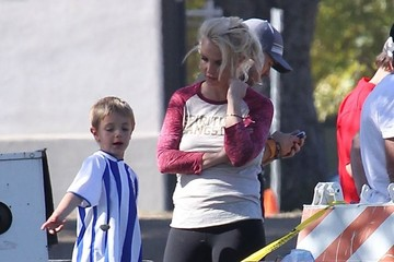 Jayden Federline Britney Spears & Kevin Federline Watch Their Sons Play Soccer