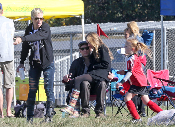 Former Couple Jennie Garth and Peter Facinelli Watch Their Daughter's Soccer Game