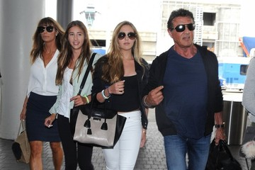 Jennifer Flavin Sistine Stallone Sylvester Stallone and Family Depart on a Flight at LAX