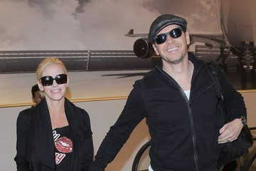Jenny McCarthy Jenny McCarthy & Donnie Wahlberg Depart From LAX