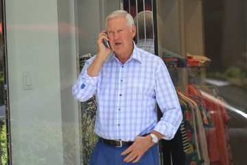 Jerry West Jerry West Talks on the Phone in Beverly Hills