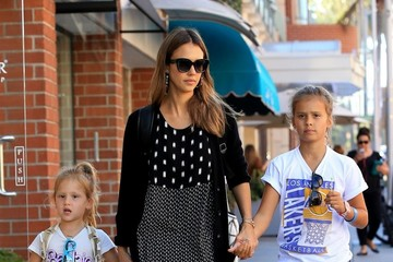 Jessica Alba Haven Warren Jessica Alba Goes Out With Her Daughters in Beverly Hills