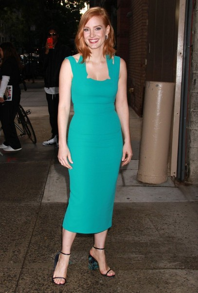 Jessica Chastain Photos Photos Celebrities Appear On Live With
