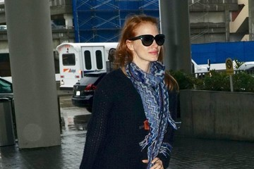 Jessica Chastain Jessica Chastain Catches a Flight