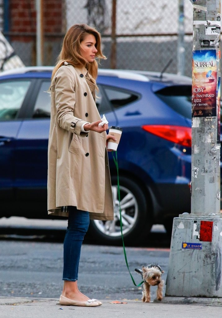 Jessica Hart's Classic Trench