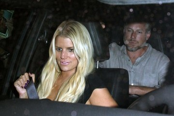 Jessica Simpson Celebrities Dine Out at Craig's Restaurant