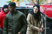 British singer Jessie J is spotted returning to her New York City, New York hotel with her boyfriend Luke James on November 18, 2014. Jessie J is in town promoting her new material as well as her upcoming performance at the American Music Awards on November 23.