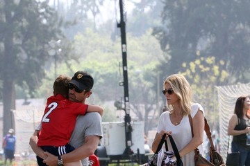Jillian Fink Patrick Dempsey and Jillian Fink Attend Their Sons' Soccer Game