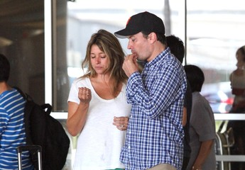 Nancy Juvonen Jimmy Fallon and Nancy Juvonen Arrive at LAX