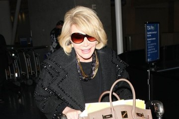 Joan Rivers Joan Rivers Arrives at LAX