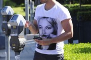 Joe Jonas Shops with a Friend