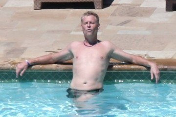 Joe Simpson Joe Simpson Relaxing Poolide Before His Daughter's Wedding