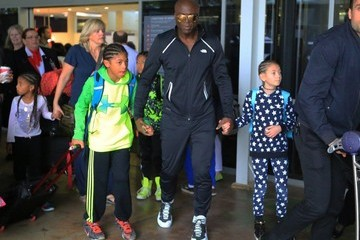 Johan Samuel Seal and His Kids Leave the Airport in Sydney