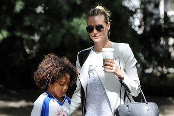 Johan Samuel Heidi Klum Takes Her Kids To Their Soccer Game