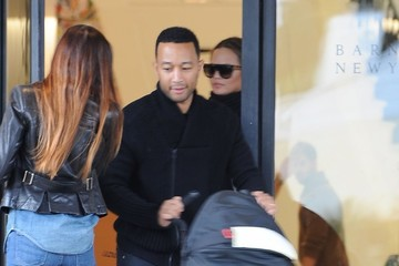 John Legend Luna Stephens Chrissy Teigen & John Legend Out Shopping In Beverly Hills