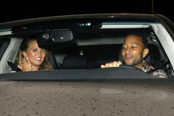 John Legend Celebs Get Dinner in West Hollywood