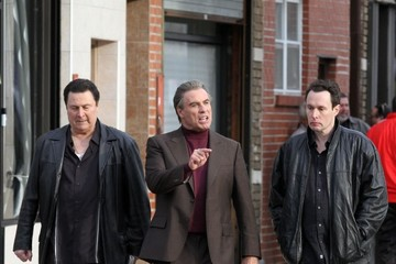 John Travolta John Travolta Films 'The Life & Death of John Gotti' in NYC