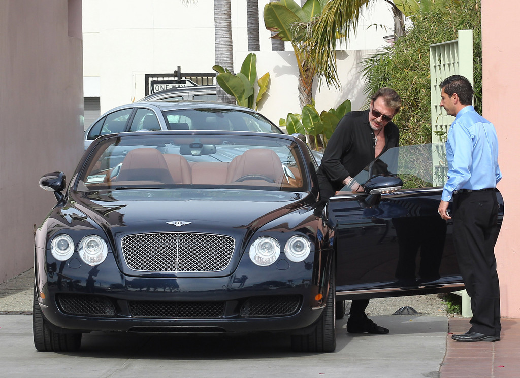 johnny hallyday photos photos johnny hallyday take his new bentley for a ride zimbio. Black Bedroom Furniture Sets. Home Design Ideas