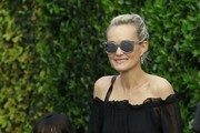 Johnny And Laeticia Hallyday Have Dinner At Cecconi's