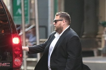 Jonah Hill Jonah Hill Waits For a Ride in NYC