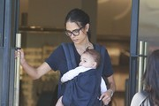 Jordana Brewster Takes Her Son Shopping