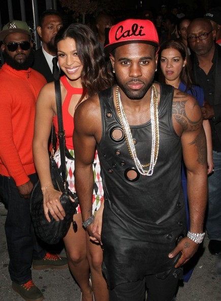 Singer Jordin Sparks and her boyfriend Jason Derulo enjoy a night out together at Supperclub nightclub in Hollywood, California on April 15, 2014.