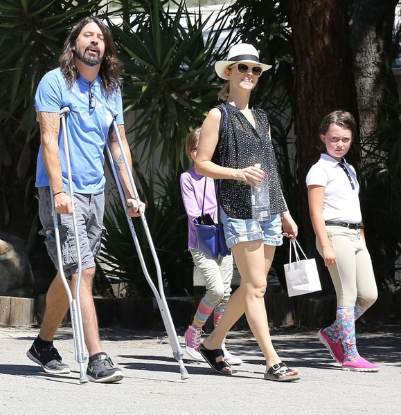 Dave Grohl and Family Are Spotted out in Calabasas