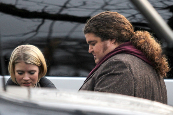 "Jorge Garcia Sam Neill, Jorge Garcia and Sarah Jones are seen on the set of their new show ""Alcatraz"" in Vancouver."