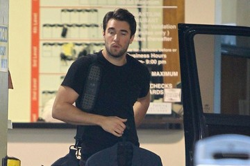 Josh Bowman Josh Bowman Leaving An Office Building