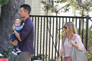 Josh Duhamel Josh Duhamel & Fergie Head To Church For Easter Sunday