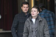 "Actors Joshua Jackson and Seth Gabel film a scene of ""Fringe"" in Vancouver, Canada."