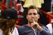 Juan Pablo Galavis Watches a Basketball Game