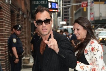 Jude Law Celebrities Visit the 'Late Show With Stephen Colbert'