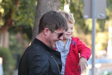 Julian Thicke Robin Thicke Picks Up His Son from School
