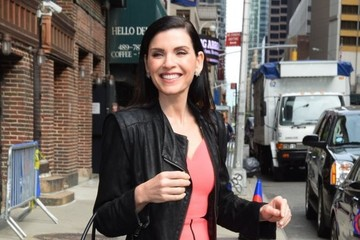 Julianna Margulies Celebrities at the 'Late Show With Stephen Colbert'