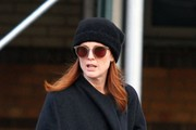 Julianne Moore Takes A Walk In The West Village