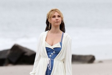 Juno Temple Justin Timberlake and Kate Winslet Film on the Beach in New York