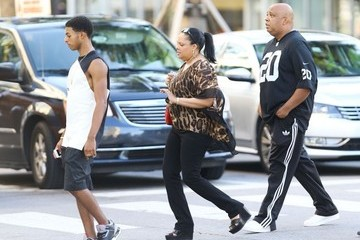 Justine Simmons Joseph Simmons and His Family Out in Miami