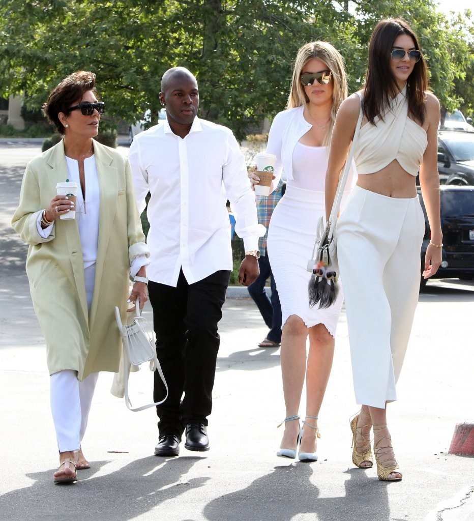 Khloe Kardashian, Kris Jenner, Kendall Jenner, Corey Gamble - Kris Jenner  Photos - Kanye West and Kim Kardashian Attend Church on Easter Sunday -  Zimbio