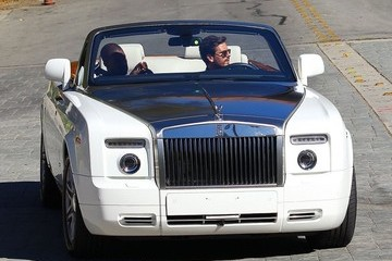 Kanye West Scott Disick Kanye West and Scott Disick Out for a Drive