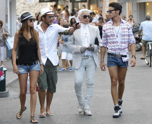 Karl Lagerfeld Out And About In St. Tropez []