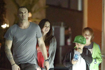 Kassius Green Megan Fox And Brian Austin Green Out To Eat In Los Angeles
