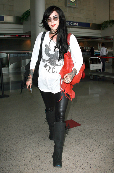 Kat Von D - Kat Von D Arriving For A Flight At LAX