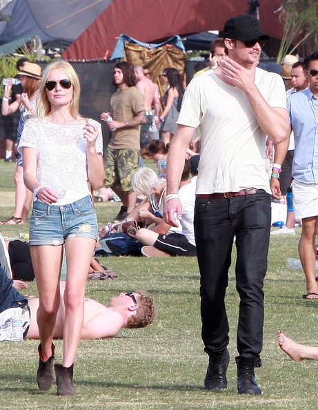 Kate Bosworth And Alexander Skarsgard At The Coachella Music Festival Day 3